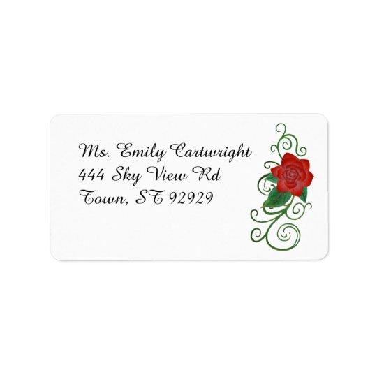 Etiqueta de endereço cor-de-rosa elegante