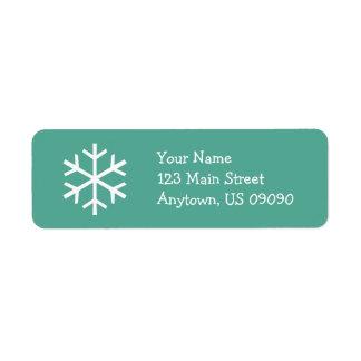 Etiqueta de endereço D do floco de neve (cerceta)