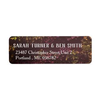 Etiqueta de endereço da parede da planta do rubi