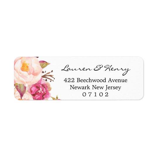 Etiqueta de endereço do remetente - #102 floral