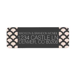 Etiqueta de endereço do remetente bonita brilhante