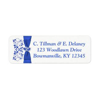 Etiqueta de endereço do remetente branca 2 dos