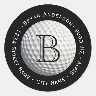 Etiqueta de endereço do remetente circular da bola