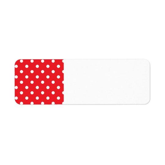Etiqueta de endereço do remetente: com pontos