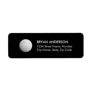 Etiqueta de endereço do remetente do golfe