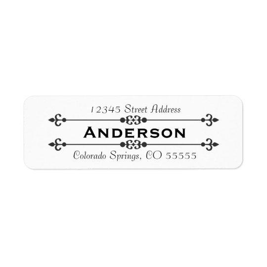 Etiqueta de endereço do remetente do nome no