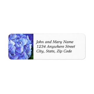 Etiqueta de endereço do remetente floral da flor