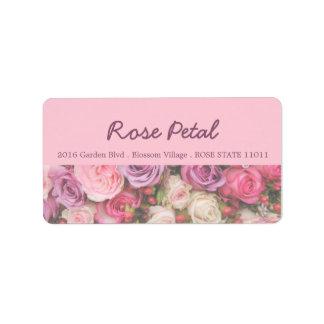 Etiqueta de endereço dos rosas por Therosegarden