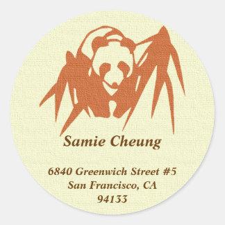 Etiqueta de endereço feita sob encomenda de bambu adesivo
