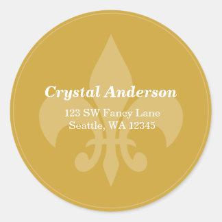 Etiqueta de endereço feita sob encomenda do ouro e adesivo