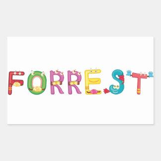 Etiqueta de Forrest