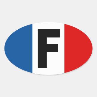 Etiqueta de France Adesivos Oval