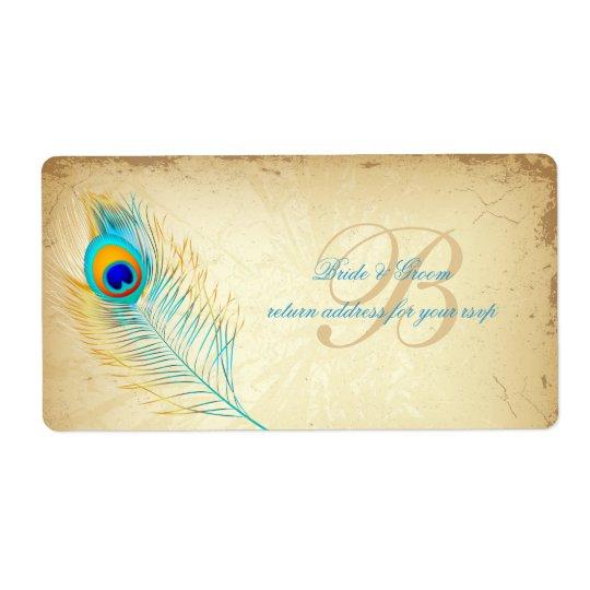 Etiqueta De Frete Cor do fundo de PixDezines peacock/DIY