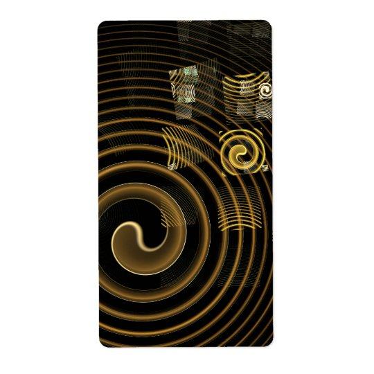 Etiqueta De Frete Fractal da arte abstracta da hipnose