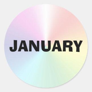 Etiqueta de improviso do Shimmer de janeiro por