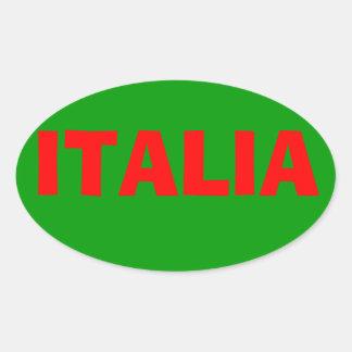 "Etiqueta de ""Italia"" Adesivo Oval"