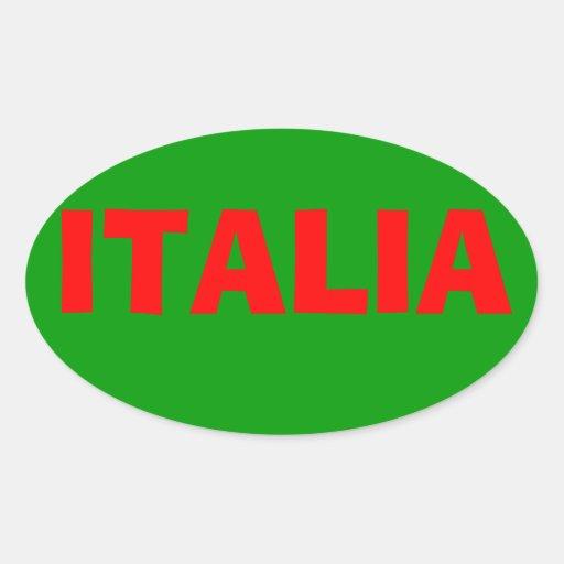 """Etiqueta de """"Italia"""" Adesivos Ovais"""