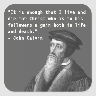 Etiqueta de João Calvino (vida e morte)