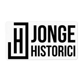 Etiqueta de Jonge Historici Etiqueta De Frete
