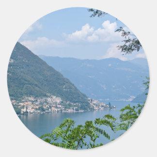 Etiqueta de Lago di Como Redondo Adesivos Redondos