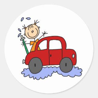 Etiqueta de lavagem do carro da menina adesivo