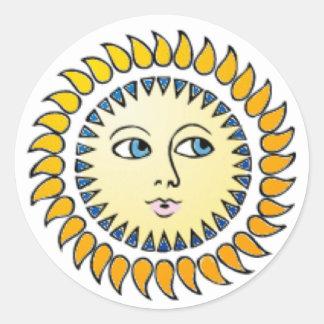Etiqueta de Musica Sun da íris Adesivo