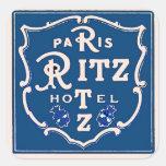 Etiqueta de Paris Adesivo Em Forma Quadrada