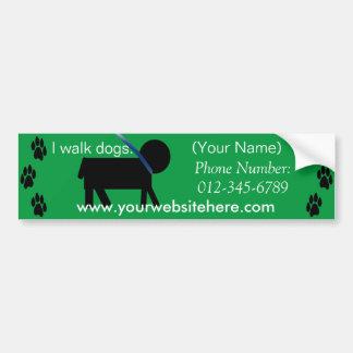 etiqueta de passeio do serviço do cão