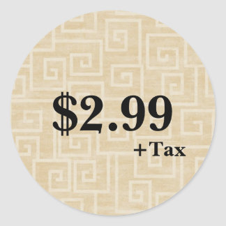 Etiqueta de preço adesivo