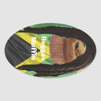 Etiqueta de Reggaemuffin Adesivo Oval