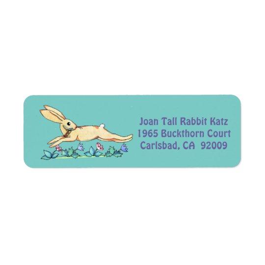 Etiqueta de salto do coelho para Joana