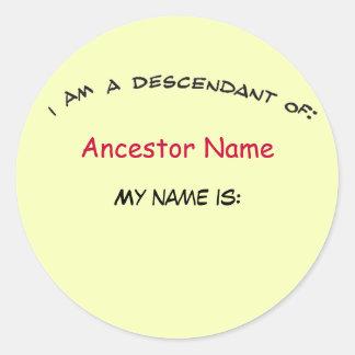 Etiqueta - descendente… do Nametag (do