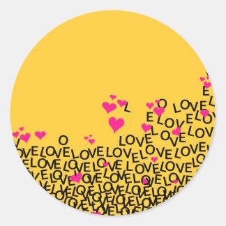 Etiqueta do amor do dia dos namorados adesivo