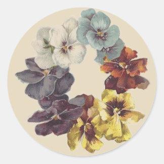 Etiqueta do anel da flor do amor perfeito do