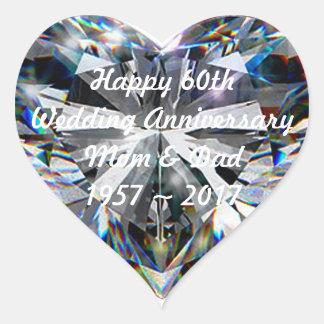 Etiqueta do aniversário de casamento do coração