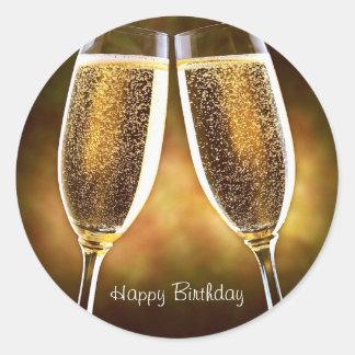 Etiqueta do aniversário de Champagne Adesivo