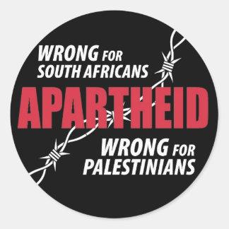 Etiqueta do Apartheid Adesivo