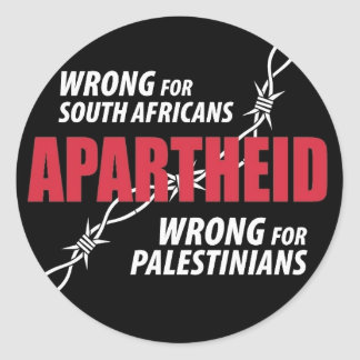 Etiqueta do Apartheid Adesivos Redondos