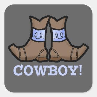 Etiqueta do azul do vaqueiro