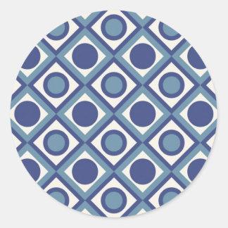 Etiqueta do azulejo adesivos em formato redondos