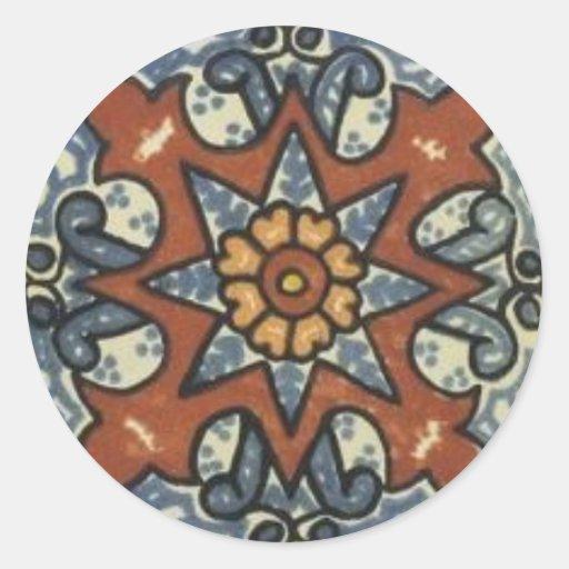 Etiqueta do azulejo adesivo redondo