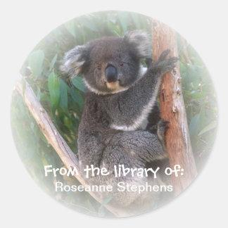 Etiqueta do Bookplate do urso de Koala