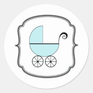 Etiqueta do carrinho de bebê adesivo redondo