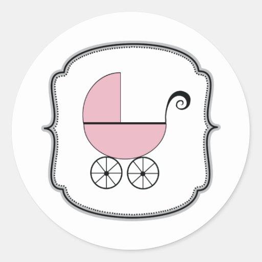 Etiqueta do carrinho de bebê adesivos em formato redondos
