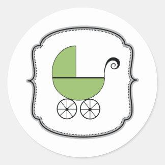 Etiqueta do carrinho de bebê adesivos redondos