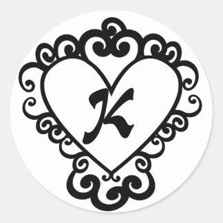 Etiqueta do casamento do monograma do design do adesivo
