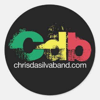 Etiqueta do CDB Adesivo Em Formato Redondo
