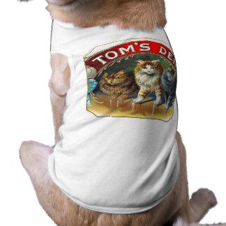 Etiqueta do charuto do vintage do antro de Toms Roupa Para Pet