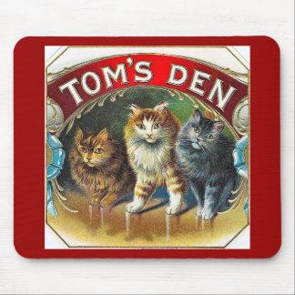 Etiqueta do charuto do vintage do antro de Toms Mouse Pad
