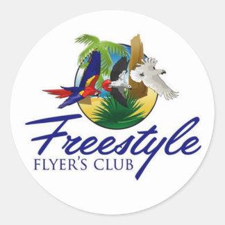 Etiqueta do clube do insecto do estilo livre -